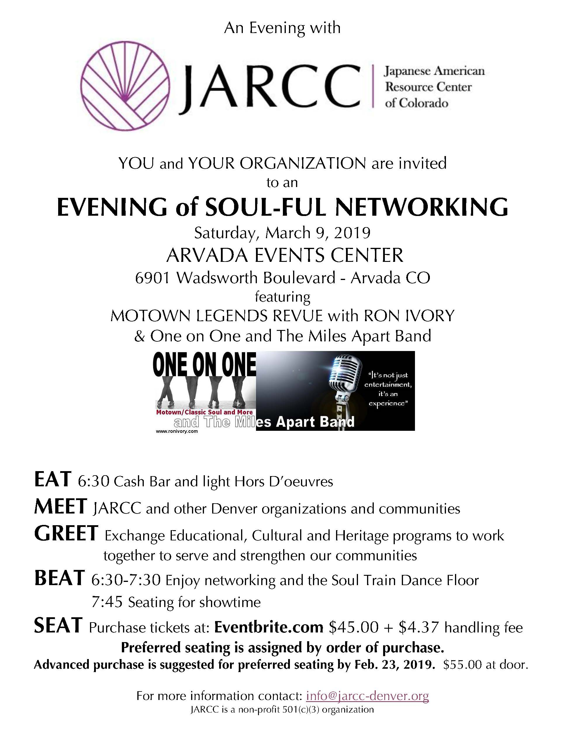 (Canceled) An Evening of Soul-Ful Networking with One on One